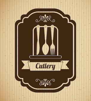 Vintage cutlery label