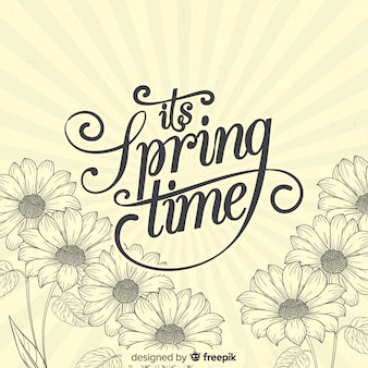 Vintage daisies spring background