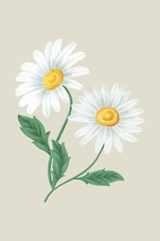 빈티지 데이지 꽃