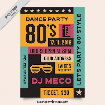 Vintage dance party flyer