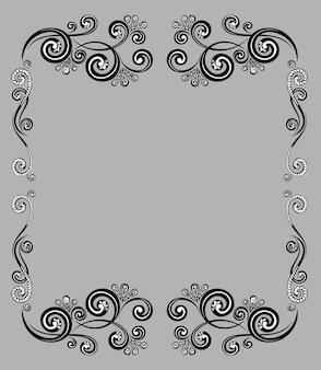 Винтажная декоративная каллиграфическая рамка для поздравительных открыток, сертификатов и меню