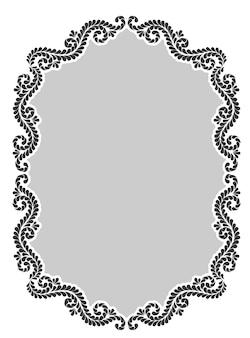 Винтажная декоративная каллиграфическая рамка
