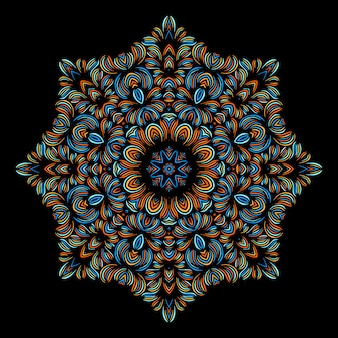 Vintage decorative elements with oriental pattern. yoga template. mandalas. islam, arabic indian turkish and pakistan culture. vector illustration.