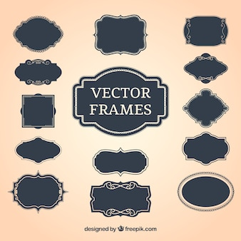 Vintage decorative frames