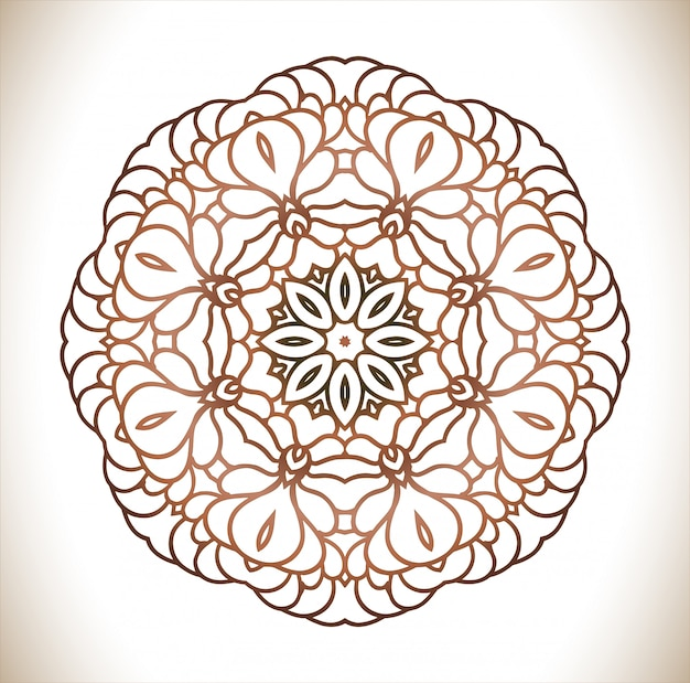 Vintage decorative mandala.