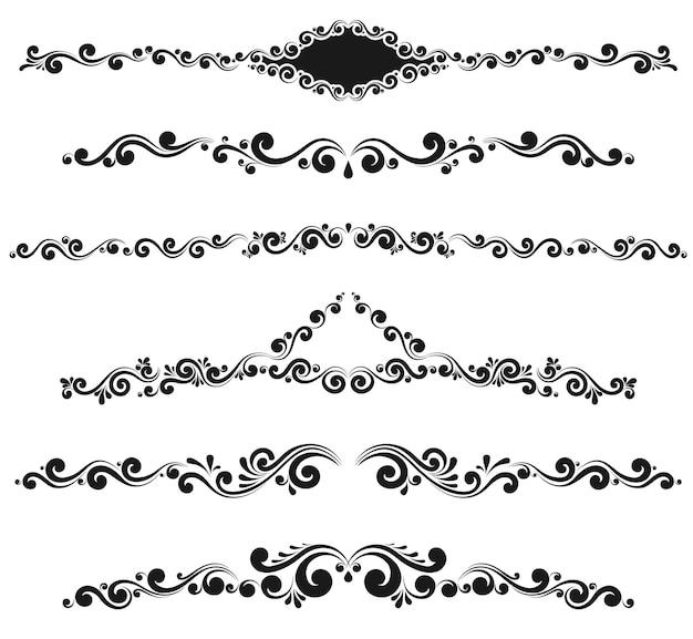 빈티지 장식 모노그램과 붓글씨 테두리. 템플릿 간판, 로고, 라벨, 스티커, 카드. 그래픽 디자인 페이지입니다. 청첩장을 위한 고전적인 디자인 요소입니다.
