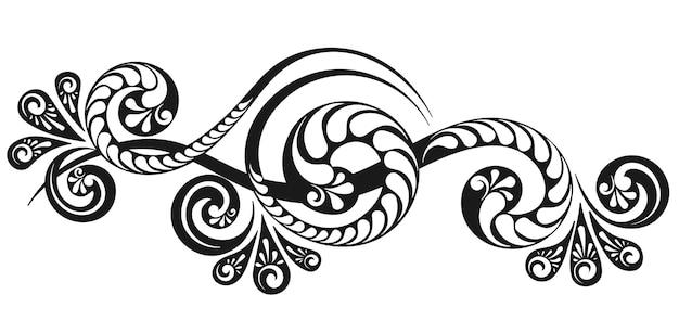 ヴィンテージの装飾的なモノグラムと書道の境界線