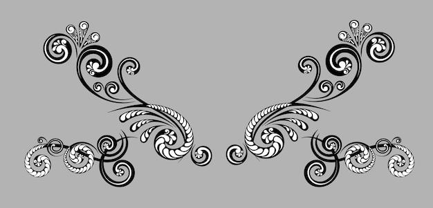 Vintage decorative monograms and calligraphic borders. graphic design page. classic design elements for wedding invitations.
