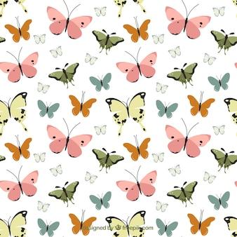 蝶のヴィンテージの装飾パターン