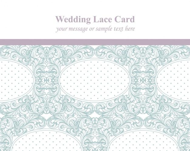 Vintage delicate lace card.