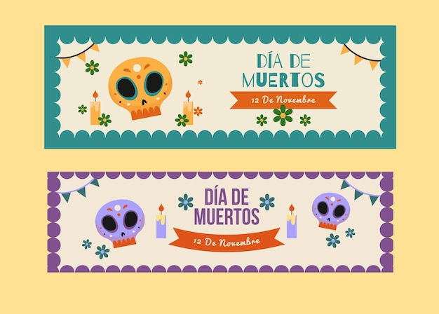 Vintage design day of the dead event