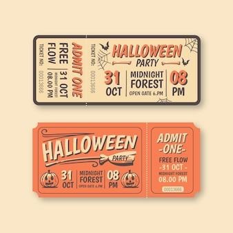 Biglietti di halloween di design vintage