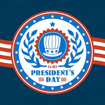 Vintage design for presidents day