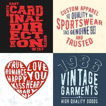 Vintage design print for t-shirt stamp