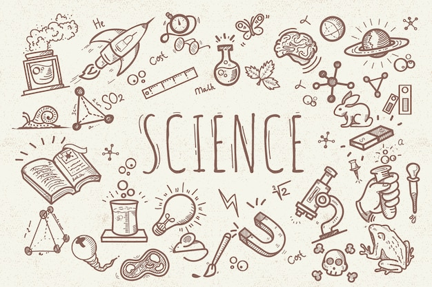 Vintage design science education background
