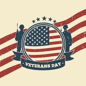 ビンテージデザインの退役軍人の日休日