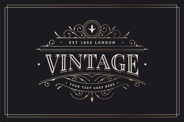 Design vintage con decorazioni ornamentali