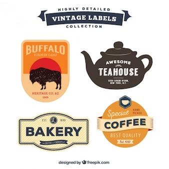 Vintage detailed label pack