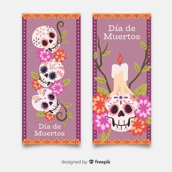 Banner vintage dia de muertos