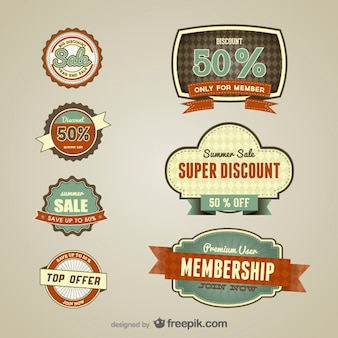 Vintage discount for members labels