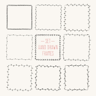 Vintage drawing frames to your template.