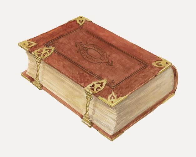 Illustrazione vettoriale vintage della bibbia olandese, remixata dall'opera d'arte di david s. de vault