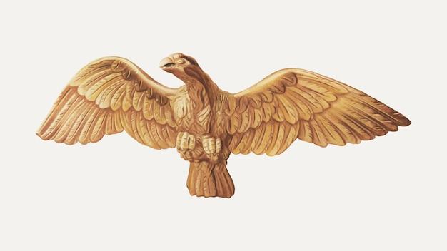 Ethel clarke의 작품에서 리믹스된 빈티지 독수리 그림 벡터
