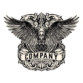 Vintage eagle logo vector