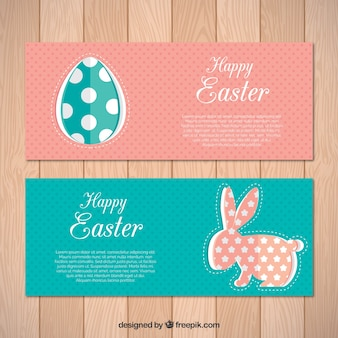Vintage easter banners