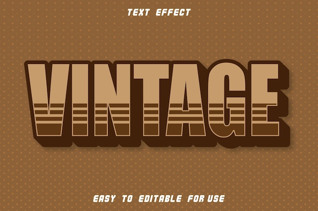 Vintage editable text effect emboss vintage style