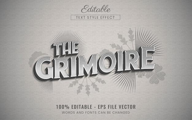 Vintage editable text effect free vector