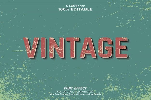 Vintage editable text effect