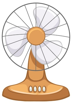 Vintage electric fan isolated on white background