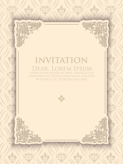 Vintage elegant invitation template