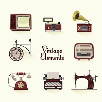 Vintage elements collection