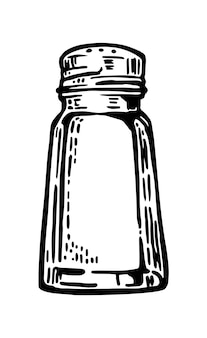Vintage engraving salt shaker illustration