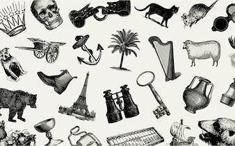 Vintage European objects set