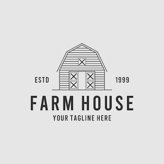 Vintage farm house creative logo design