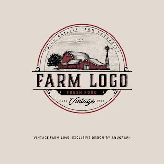 Старинный логотип фермы