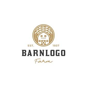Винтажный дизайн логотипа сельского хозяйства