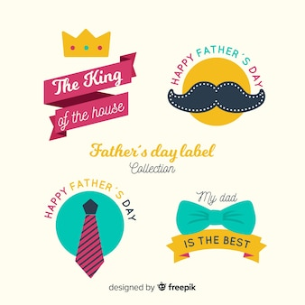 Vintage father's day badge collection