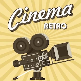 Vintage film camera. poster in vintage style. retro cinema.