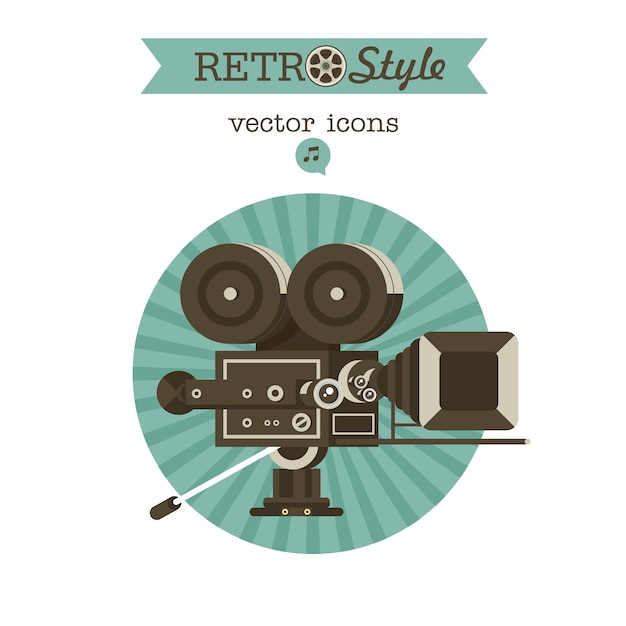 Vintage film camera. vector emblem. logo.