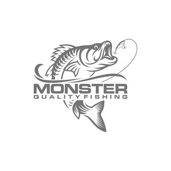 Vintage fishing logo image