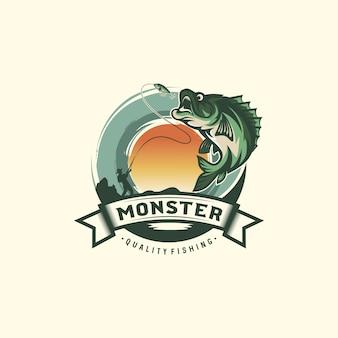 Vintage fishing logo