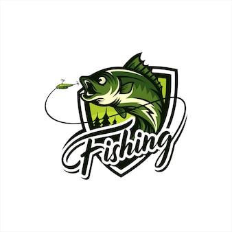 Винтажная рыбалка логотип