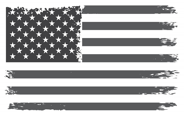 Vintage flag of the united states