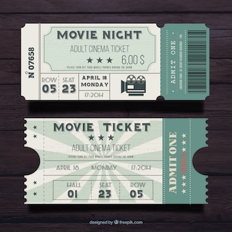 Vintage flat movie pass