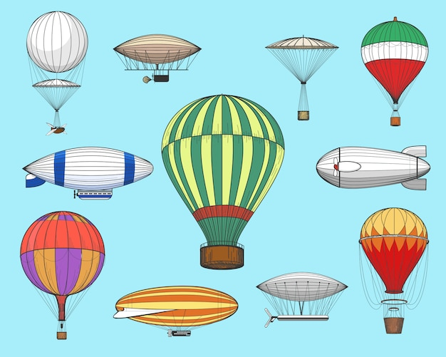 Vintage flights airships