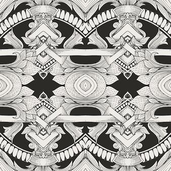 Винтажная флора орнамент шаблон дизайна
